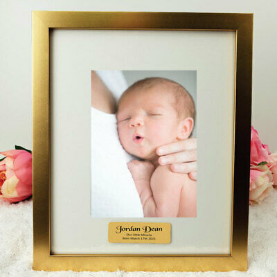 AU53 • Buy Baby Gold 5x7 Photo Frame With Personalised Message - Unique Baby Gift