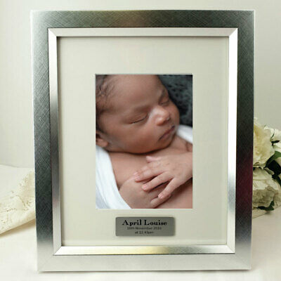 AU58 • Buy Baby Personalised Photo Frame 5x7 Photo Silver - Unique Baby Gift