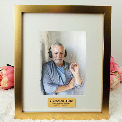 AU53 • Buy Gold Memorial  5x7 Photo Frame With Personalised Message - Personalised Custo...