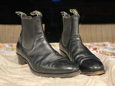 AU150 • Buy RM Williams 9.5G The Yearling Boot, Great Condition BLACK LEATHER