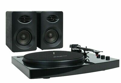 AU174.99 • Buy Pro-M Bluetooth Stereo Turntable Vinyl Record Player System With Speakers Black