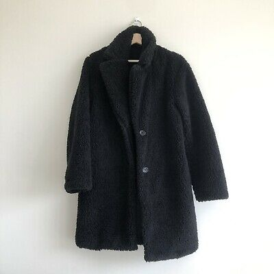 AU40 • Buy Uniqlo Black Teddy Faux Fur Coat S AU 10