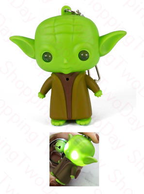 $8.49 • Buy Star Wars Mandalorian Baby Yoda Keychain With Led Light And Sound Key Chain Ring