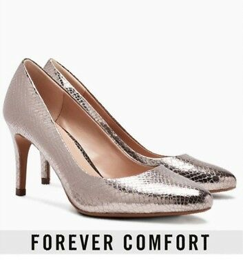 Next Forever Comfort Pewter Court Shoes, Size 5, New In Box • 14.99£