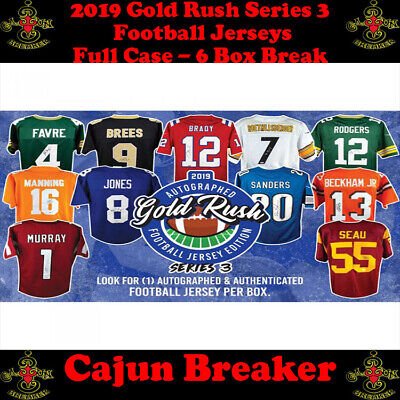 $15.55 • Buy Los Angeles Chargers *full Case* 6 Box Live Break - 2019 Gold Rush Jerseys