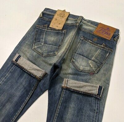 New PRPS Fury Selvedge Denim Mens Jeans Distressed Tapered Oil W32 L34 RRP £595 • 195£