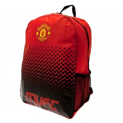 Manchester United Backpack School Bag Red Black Rucksack MUFC Outdoor Official • 19.99£