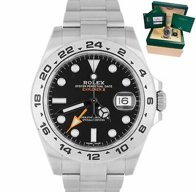 $ CDN10979.47 • Buy MAY 2019 LNIB Rolex Explorer II 42mm 216570 Black Orange Steel GMT Date Watch