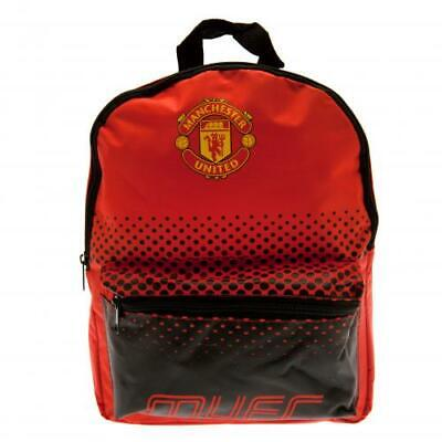 Manchester United Junior Backpack School Bag Red Black Rucksack MUFC Outdoor • 17.99£