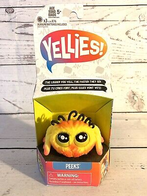$11.99 • Buy Yellies! Peeks; Voice-Activated Spider Pet; Ages 5 And Up NEW FREE SHIPPING
