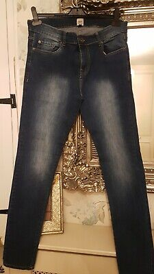Ze Enzo Denim Mens Slim Fit Jeans 32R In Excellent Condition With Stretch  • 13£