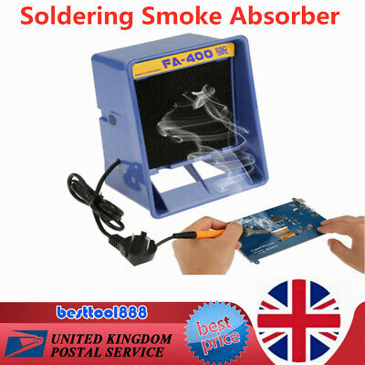 £28 • Buy Solder Smoke Absorber Remover Fume Extractor Air Filter Fan Soldering Tool