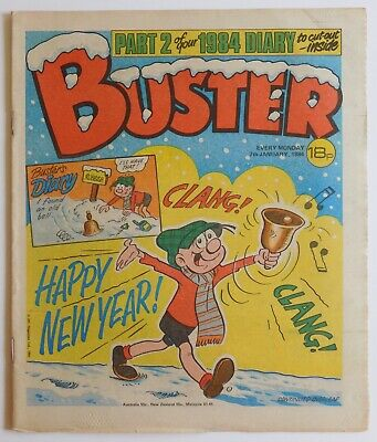 BUSTER Comic - 7th January 1984 - New Year Issue • 3.99£