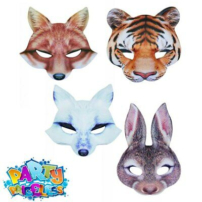 £4.10 • Buy Adult Kids Animal Half Face Mask  Book Day Week Fancy Dress Outfit Accessory