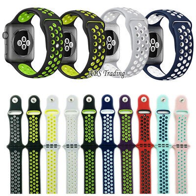Replacement Watch Silicone Band Strap For Apple Watch Series 5/4/3/2 38/40/42/44 • 3.97£