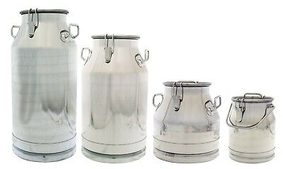 $141.99 • Buy Premium Stainless Steel Milk Can, Heavy Duty With Sealed Lid,  304 SS