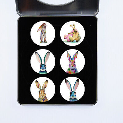 £13.99 • Buy Pattern Weights Rabbits & Hares Watercolour Design By Maria Moss Sets Of 4 & 6