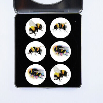 £13.99 • Buy Pattern Weights Bees Watercolour Design By Artist Maria Moss Gift Set Of 6