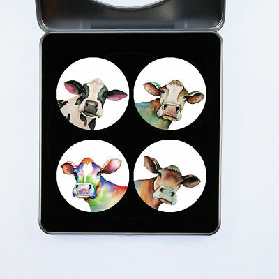 £13.99 • Buy Pattern Weights Cows Watercolour Design By Artist Maria Moss Gift Set Of 4