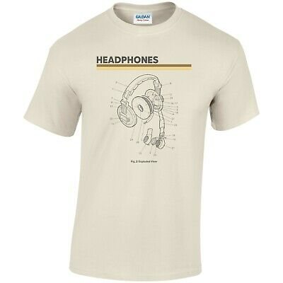 Headphones T Shirt Dj Music • 14.39£