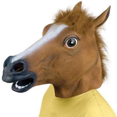 £6.99 • Buy Rubber Horse Head Mask Panto Fancy Dress Party Cosplay Halloween Adult Costume
