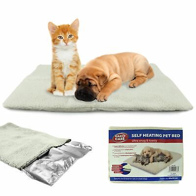 £5.99 • Buy Self Heated Heating Thermal Pet Dog Cat Bed Cushion Mat Washable Super Warm Rug
