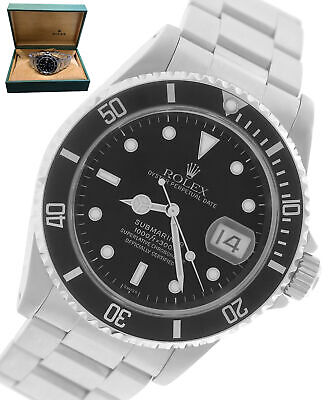 $ CDN9523.04 • Buy 2000 Rolex Submariner Date U SERIAL 16610 SWISS ONLY Stainless 40mm Dive Watch