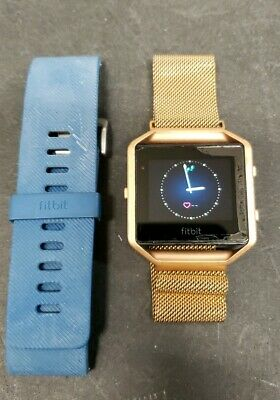 $ CDN51.76 • Buy Fitbit Blaze Fb502 Activity Tracker Large To Small Mesh Band & Small Blue Band