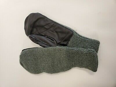 $19.99 • Buy Swiss Military Wool Mittens With Leather Palm