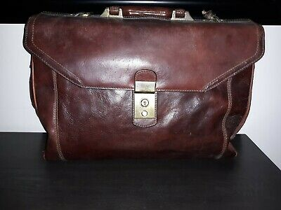 $49.99 • Buy Vintage Italian Leather Brand Doctors Style Leather Bag