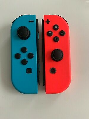 $64.99 • Buy GENUINE Original Nintendo Switch Joy Con Controller Neon Blue & Red Scuffs****