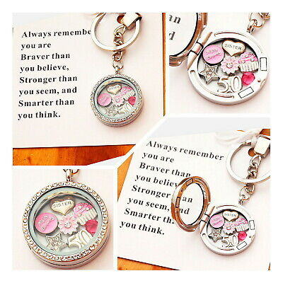 50th Birthday Gift Floating Charm Keyring - Daughter , Sister , Friend , Mum  • 4.89£