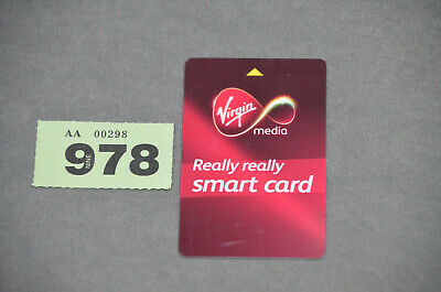 Genuine Virgin Media NTL TV Set Top Box Smart Viewing Card - Nagra - FREE P&P • 10£