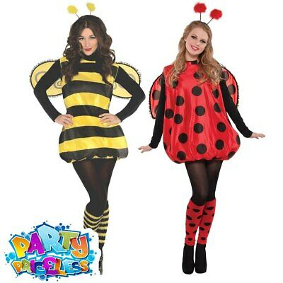 Adult Ladies Bumblebee Ladybird Costume Insects Book Day Fancy Dress Outfit • 18.49£