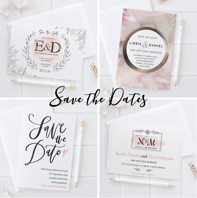 £1.19 • Buy Personalised Wedding Save The Date Cards Invites Invitations With Envelopes