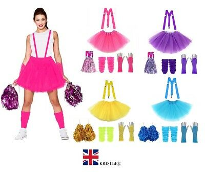 £12.50 • Buy CHEERLEADER Fancy Dress Costume Outfit With Pom Poms High School Musical Girls