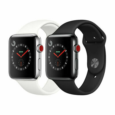 $ CDN264.28 • Buy Apple Watch Series 3 Stainless Steel 38mm 42mm (GPS + Cellular) Gray/Silver