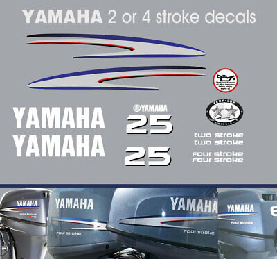 AU66 • Buy YAMAHA 25hp 2 Stroke And 4 Stroke Outboard Decals