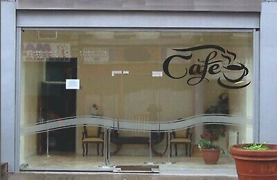 £8.19 • Buy Cafe Shop Signage Wall Art Decal Sticker