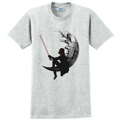 STAR WAR BANKSY MOON T-SHIRT Vader Pulp Fiction Parody Funny Gift Pokemon Tshirt • 9.95£