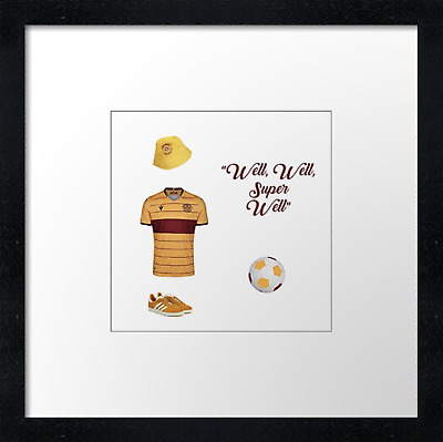 Motherwell FC (1)  Vintage Print Or Canvas Print. Example Shown 10  Framed Print • 21.50£