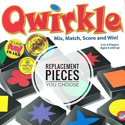 $ CDN1.23 • Buy Qwirkle Replacement Wood Tiles / Blocks Individual Game Pieces As Low As 0.59 Ea