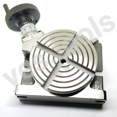 £69.99 • Buy 100MM 4  Rotary Table 4 Slot Horizontal Vertical Milling Anchor