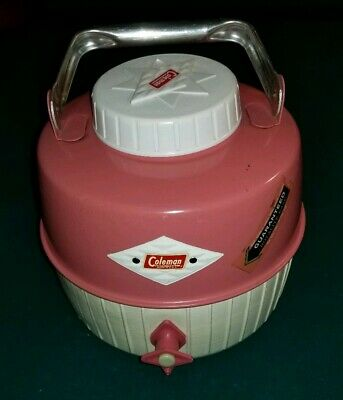 $49.96 • Buy Vintage Rare Pink & White Coleman Diamond Logo Snow Lite 1 Gal. Water Cooler Jug