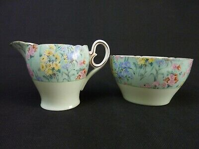 Shelley Melody  Chintz Milk Jug & Sugar Basin • 50£