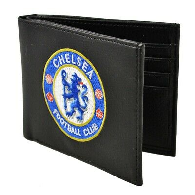 Chelsea Embroidered Wallet PU Leather Gift Idea Football Club CFC Black • 11.99£