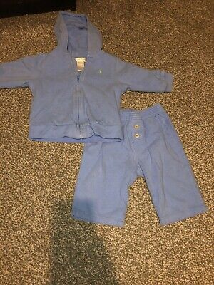 £12 • Buy Baby Boy Light Blue Ralph Lauren Tracksuit Size 9months