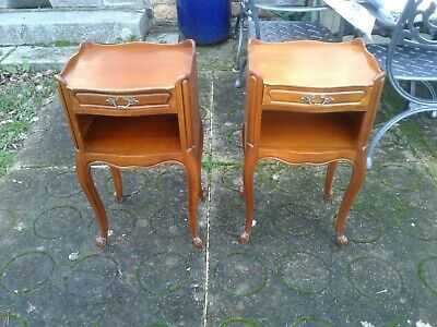 £245 • Buy French Antique Vintage Louis Philippe Style Bedside Tables
