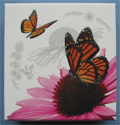 $36.99 • Buy 2017 Canada Celebration Of Love $3 Silver Coin Monarch Butterfly + Heart Crystal