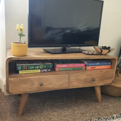 £167.90 • Buy Scandinavian Style TV Stand Mid Century Cabinet Nordic Vintage Solid Wood Unit